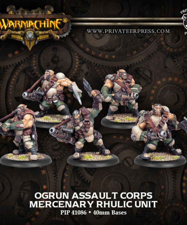 Privateer Press - PIP Warmachine - Mercenaries - Ogrun Assault Corps - Rhulic Unit