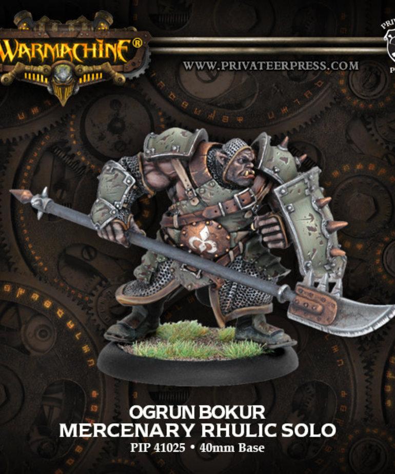 Privateer Press - PIP Warmachine - Mercenaries - Ogrun Bokur - Rhulic Solo