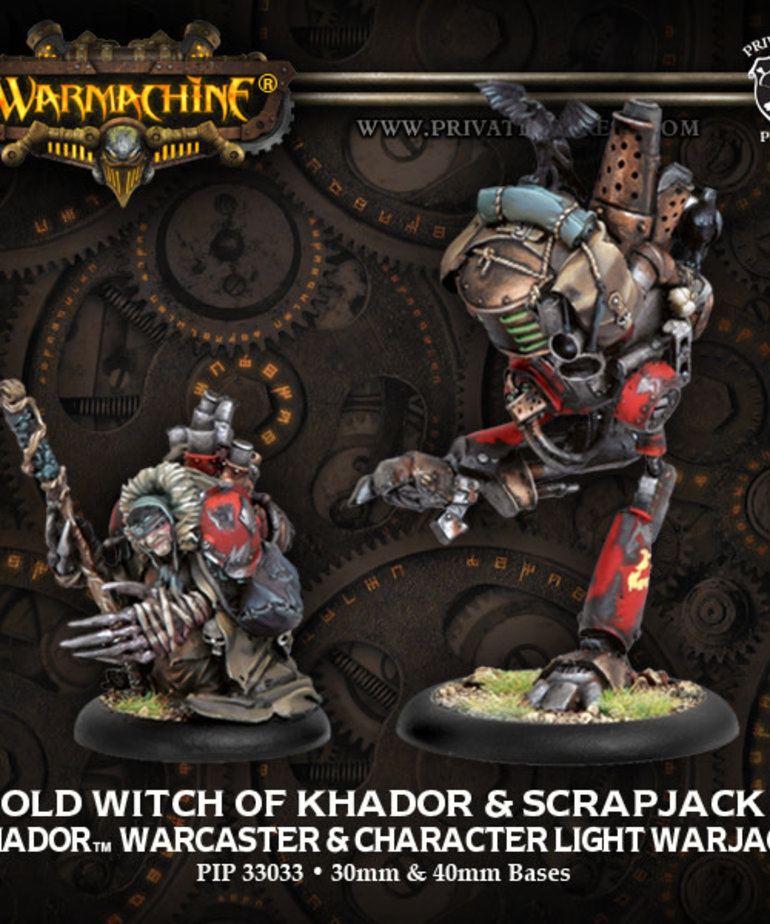 Privateer Press - PIP Warmachine - Khador - Old Witch of Khador & Scrapjack - Warcaster & Character Light Warjack (Old Witch 1)
