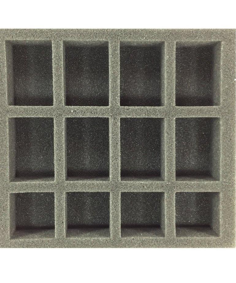 Battle Foam - BAF Battle Foam: Trays - Warmachine/Hordes - Oversized Small Troop Half Tray (PP.5-1.5) BLACK FRIDAY NOW