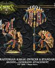 Privateer Press - PIP Hordes - Skorne - Praetorian Karax Officer & Standard - Command Attachment