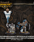 Privateer Press - PIP Warmachine - Mercenaries - Precursor Knight Officer & Standard - Cygnar Morrowan Ally Unit Attachment