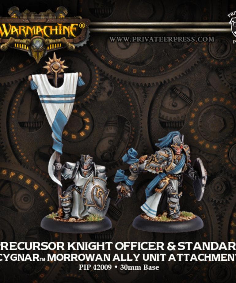 Privateer Press - PIP Warmachine - Mercenaries - Precursor Knight Officer & Standard - Cygnar Morrowan Ally Unit Attachment