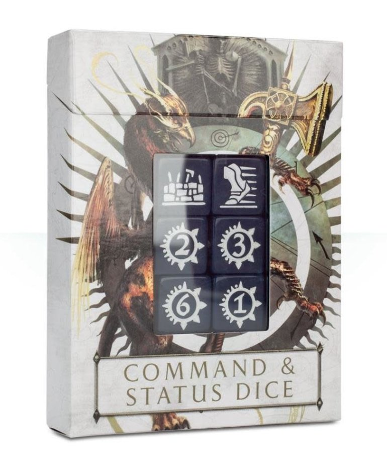 Games Workshop - GAW CLEARANCE - EXTRA REBATE Warhammer Age of Sigmar - Command & Status Dice