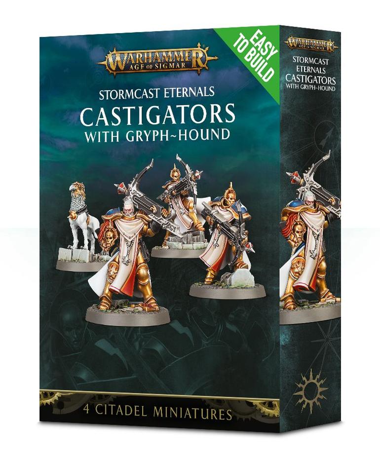 Games Workshop - GAW Warhammer Age of Sigmar - Stormcast Eternals - Castigators with Gryph-hound