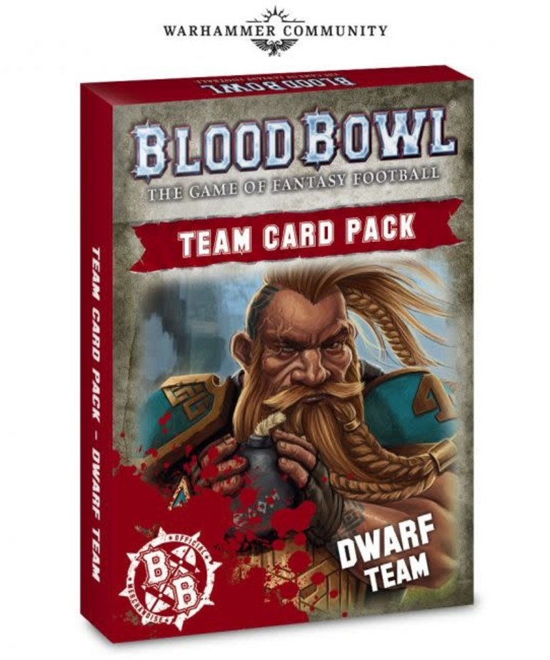 Games Workshop - GAW Blood Bowl - Dwarf Team Card Pack