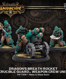 Privateer Press - PIP Warmachine - Crucible Guard - Dragon's Breath Rocket - Weapon Crew Unit