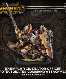 Privateer Press - PIP Warmachine - Protectorate of Menoth - Exemplar Cinerator Officer - Command Attachment