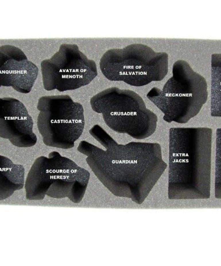 Battle Foam - BAF CLEARANCE Protectorate of Menoth Warjack Foam Tray A (International orders with this item may be assessed additional shipping fees at time of shipment)