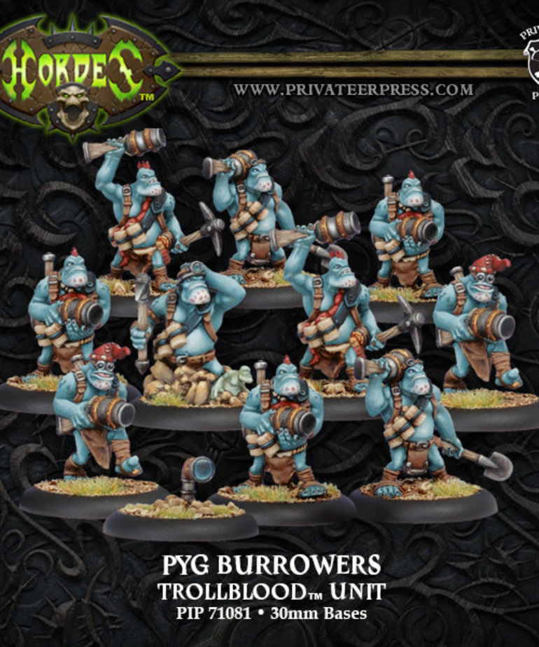 Privateer Press - PIP Hordes - Trollbloods - Pyg Burrowers - Unit