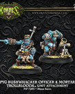 Privateer Press - PIP Hordes - Trollbloods - Pyg Bushwhacker Officer & Mortar - Unit Attachment