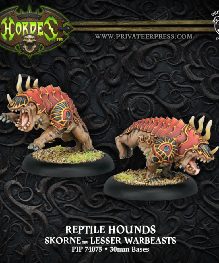 Privateer Press - PIP Hordes - Skorne - Reptile Hounds - Lesser Warbeasts