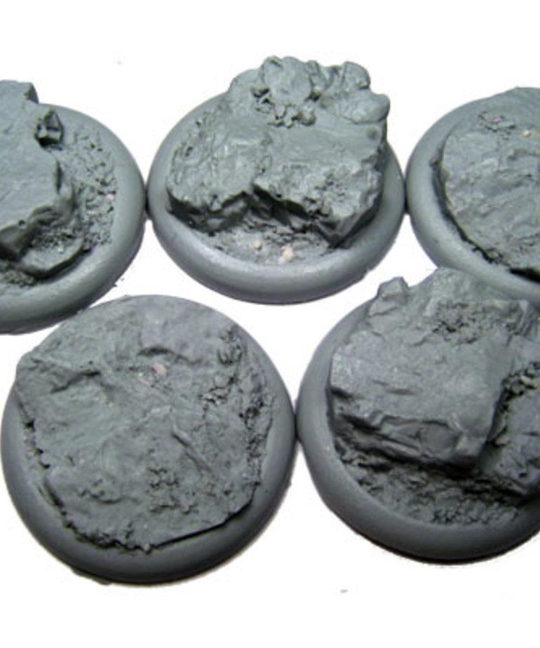 Secret Weapon Miniatures - SWM CLEARANCE Rocky Bluff 40mm Bases (5) Secret Weapon Bases