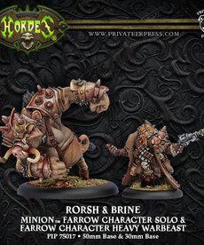 Privateer Press - PIP Hordes - Minions - Rorsh & Brine - Farrow Character Solo & Farrow Character Heavy Warbeast