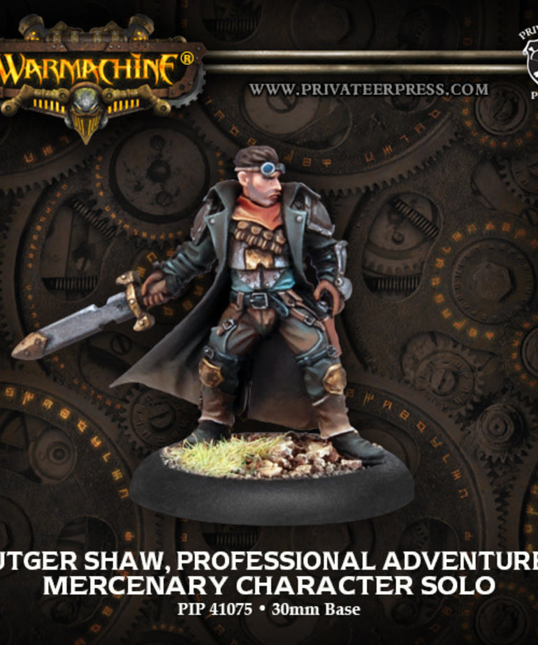 Privateer Press - PIP Warmachine - Mercenaries - Rutger Shaw, Professional Adventurer - Character Solo