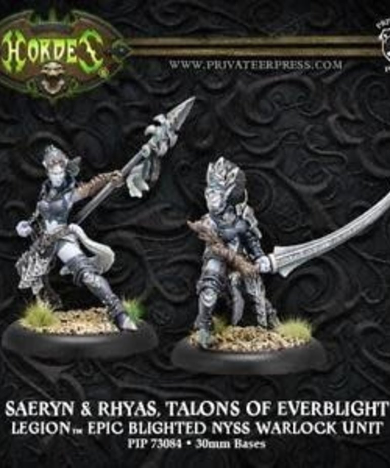 Privateer Press - PIP Hordes - Legion of Everblight - Saeryn and Rhyas, Talons of Everblight - Epic Blighted Nyss Warlock Unit (Saeryn 2/Rhyas 2)