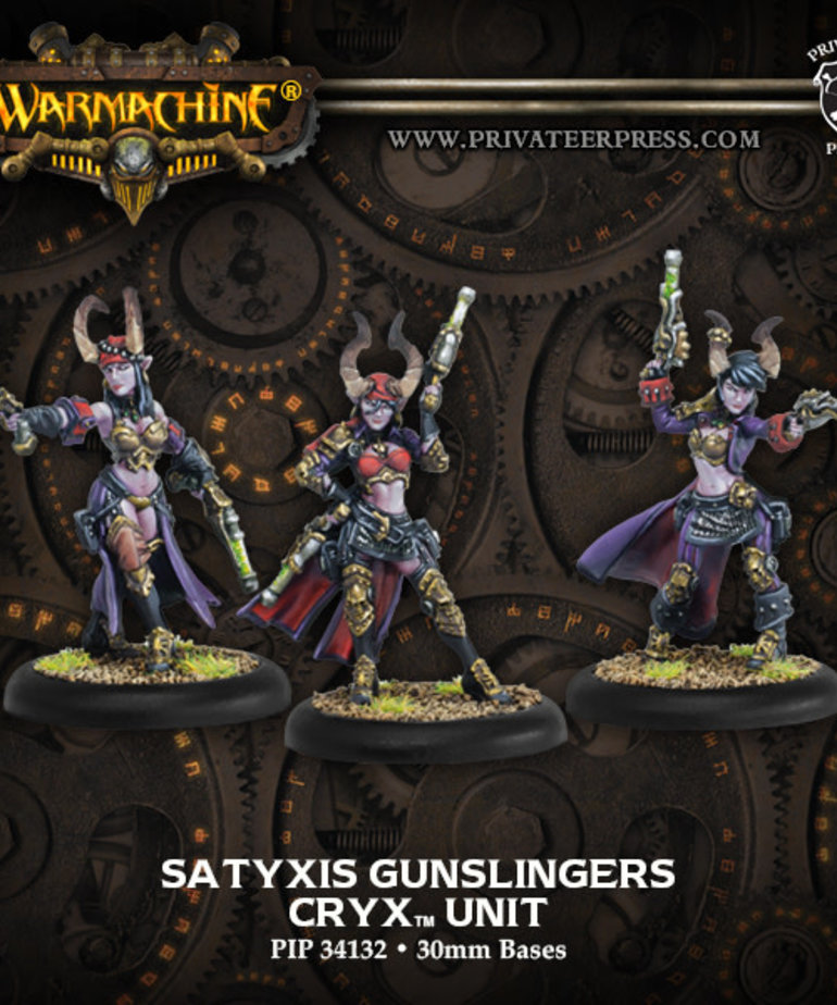 Privateer Press - PIP Warmachine - Cryx - Satyxis Gunslingers Unit