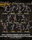 Privateer Press - PIP Warmachine - Cryx - Satyxis Raiders & Sea Witch - Unit With Command Attachment