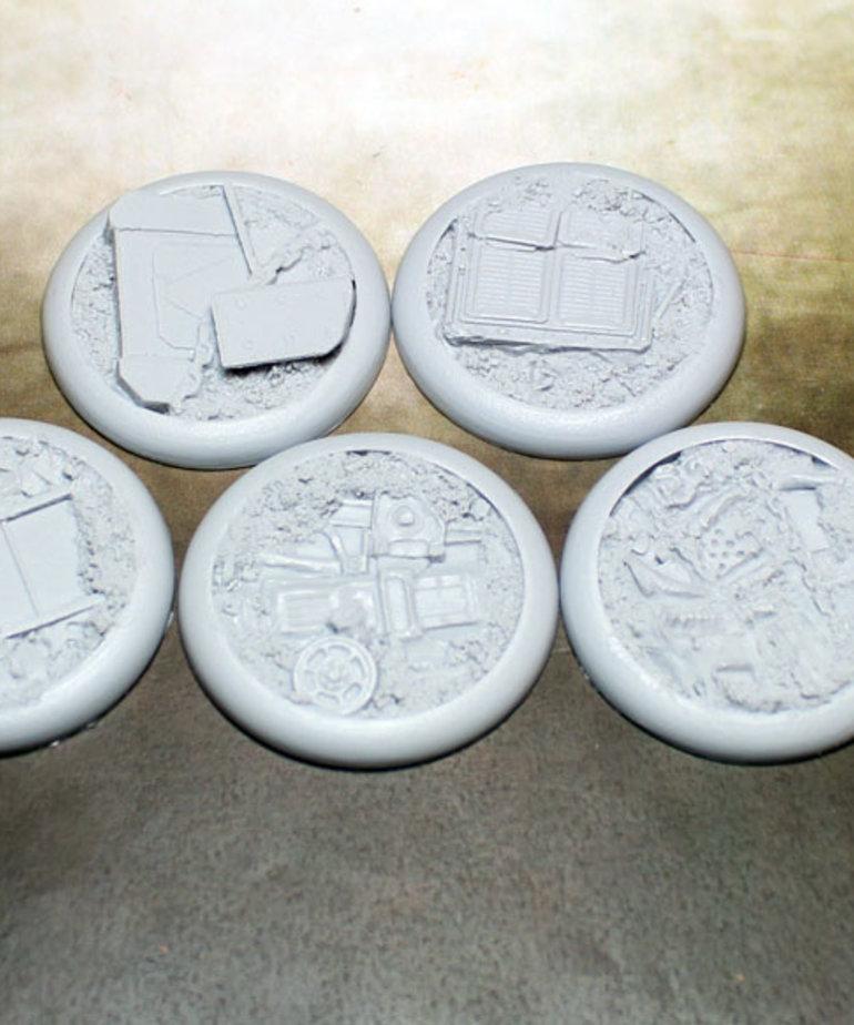Secret Weapon Miniatures - SWM CLEARANCE Scrap Yard 40mm Bases (5) Secret Weapon Bases