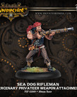 Privateer Press - PIP Warmachine - Mercenaries - Sea Dog Rifleman - Privateer Weapon Attachment