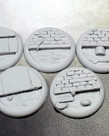 Secret Weapon Miniatures - SWM CLEARANCE Sewer Works 40mm Bases (5) Secret Weapon Bases