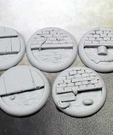 Secret Weapon Miniatures - SWM Sewer Works 40mm Bases (5) BLACK FRIDAY NOW