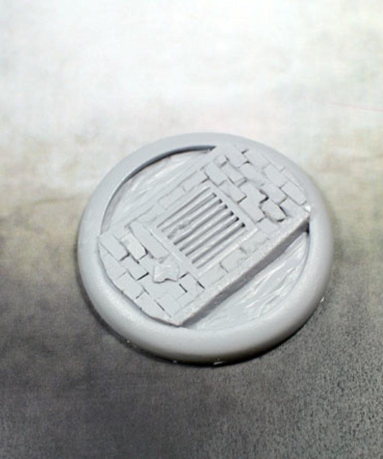 Secret Weapon Miniatures - SWM Sewer Works 50mm Base 03 Secret Weapon Bases BLACK FRIDAY NOW