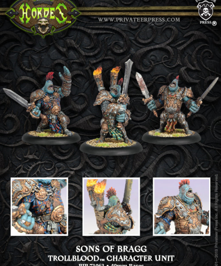 Privateer Press - PIP Hordes - Trollbloods - Sons of Bragg - Character Unit