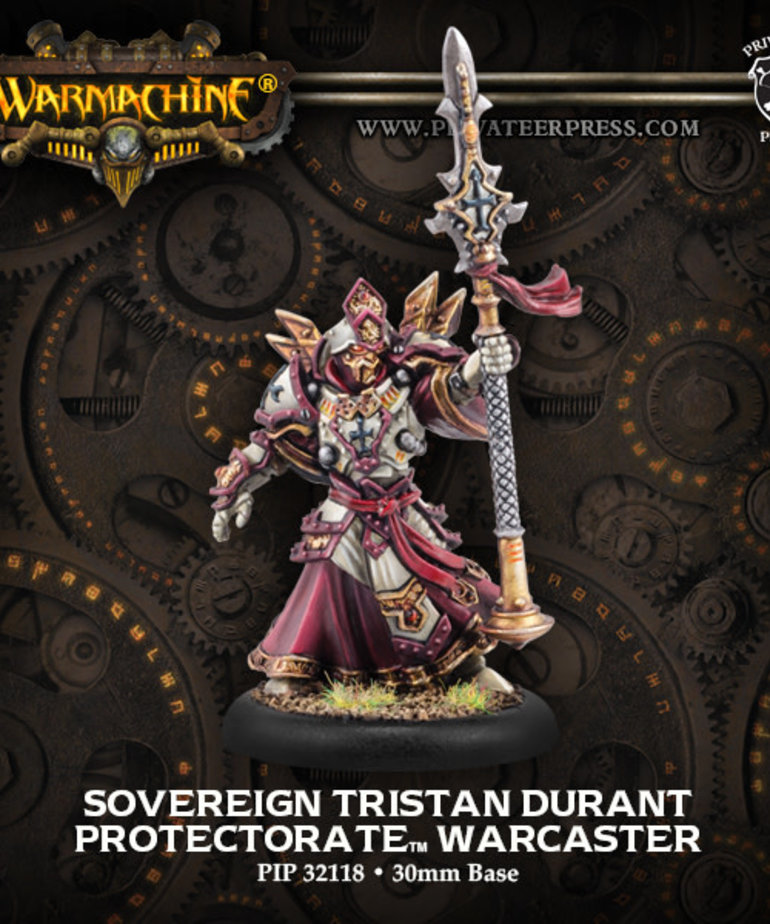 Privateer Press - PIP Warmachine - Protectorate of Menoth - Sovereign Tristan Durant - Warcaster (Tristan II)