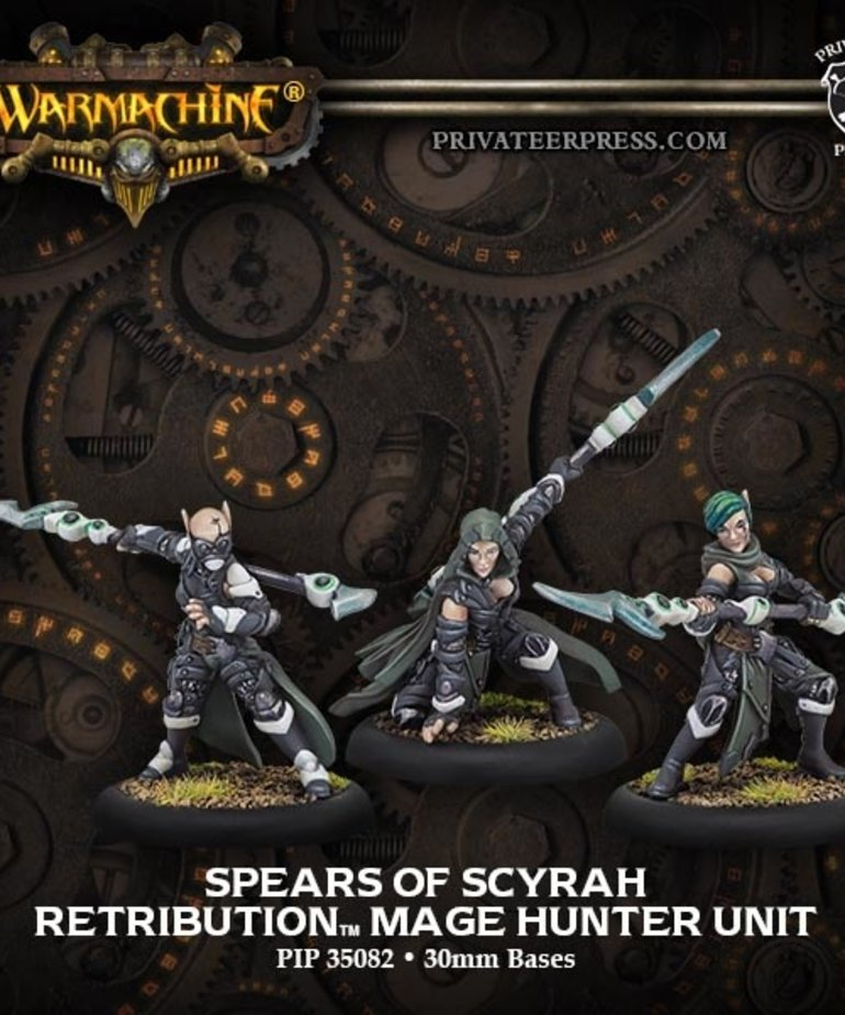 Privateer Press - PIP Warmachine - Retribution of Scyrah - Spears of Scyrah - Mage Hunter Unit
