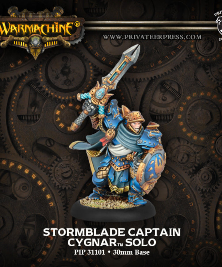 Privateer Press - PIP Warmachine - Cygnar - Stormblade Captain - Solo