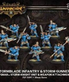 Privateer Press - PIP Warmachine - Cygnar - Stormblade Infantry & Storm Gunners - Storm Knight Unit & Weapon Attachment