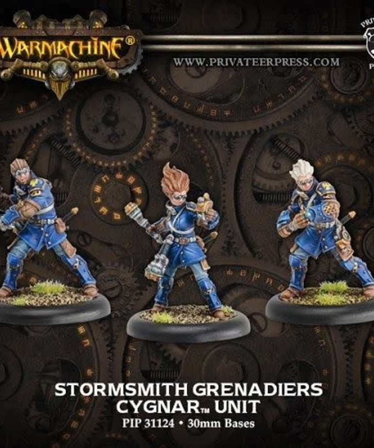 Privateer Press - PIP Warmachine - Cygnar - Stormsmith Grenadiers - Unit