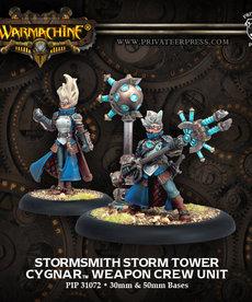 Privateer Press - PIP Warmachine - Cygnar - Stormsmith Storm Tower - Weapon Crew Unit
