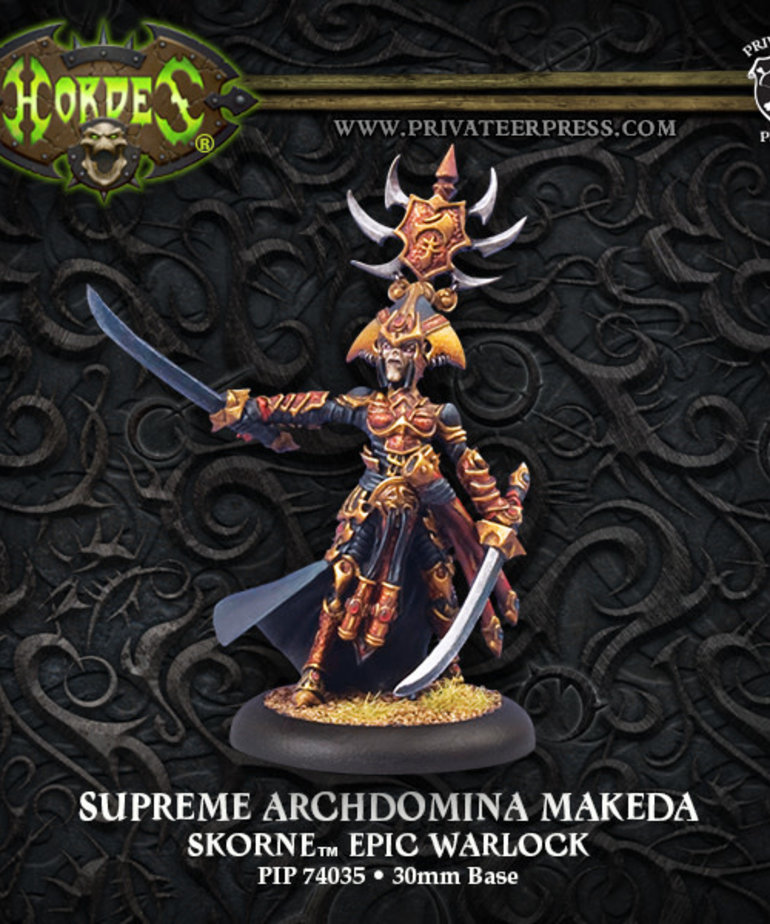 Privateer Press - PIP Hordes - Skorne - Supreme Archdomina Makeda - Epic Warlock (Makeda 2)