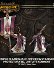 Privateer Press - PIP Warmachine - Protectorate of Menoth - Temple Flameguard Officer & Standard - Unit Attachment