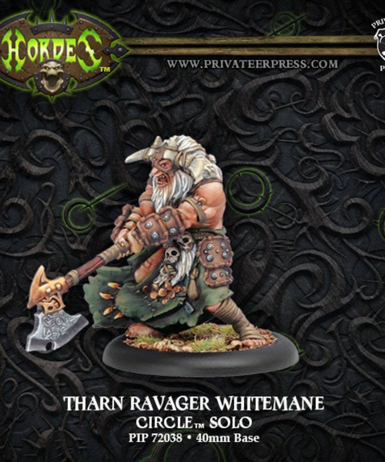 Privateer Press - PIP Hordes - Circle Orboros - Tharn Ravager Whitemane - Solo