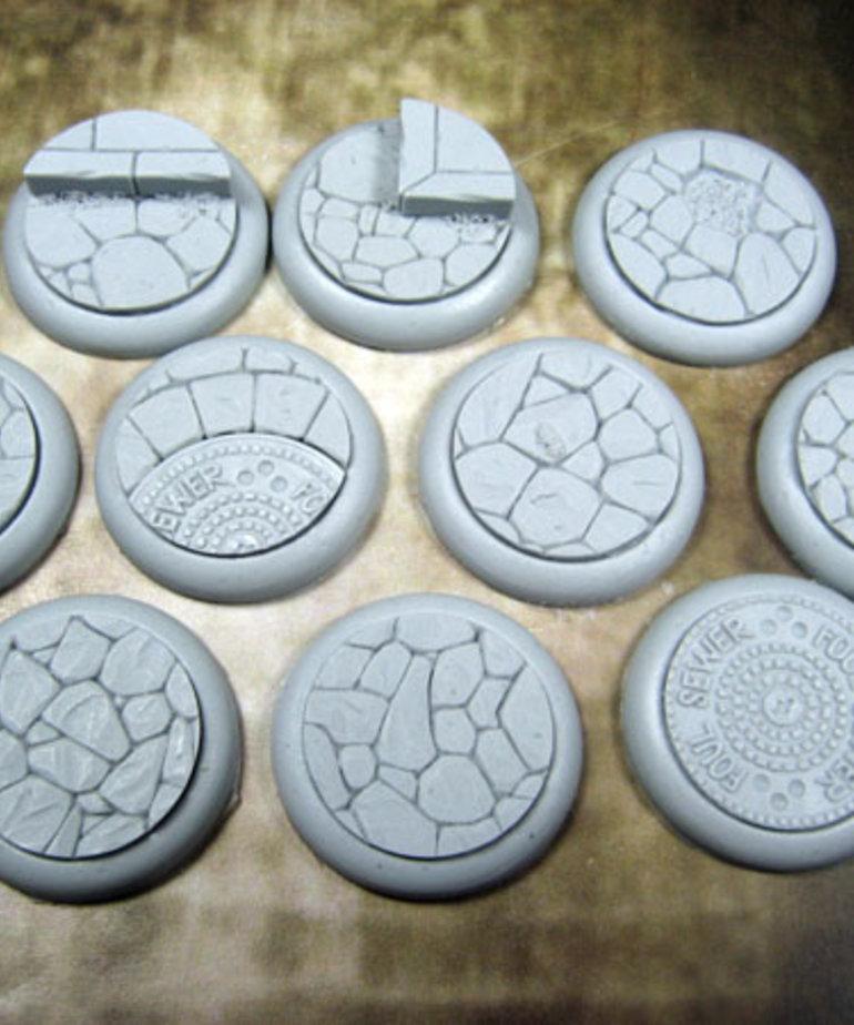 Secret Weapon Miniatures - SWM CLEARANCE Town Square 30mm Bases (10) Secret Weapon Bases