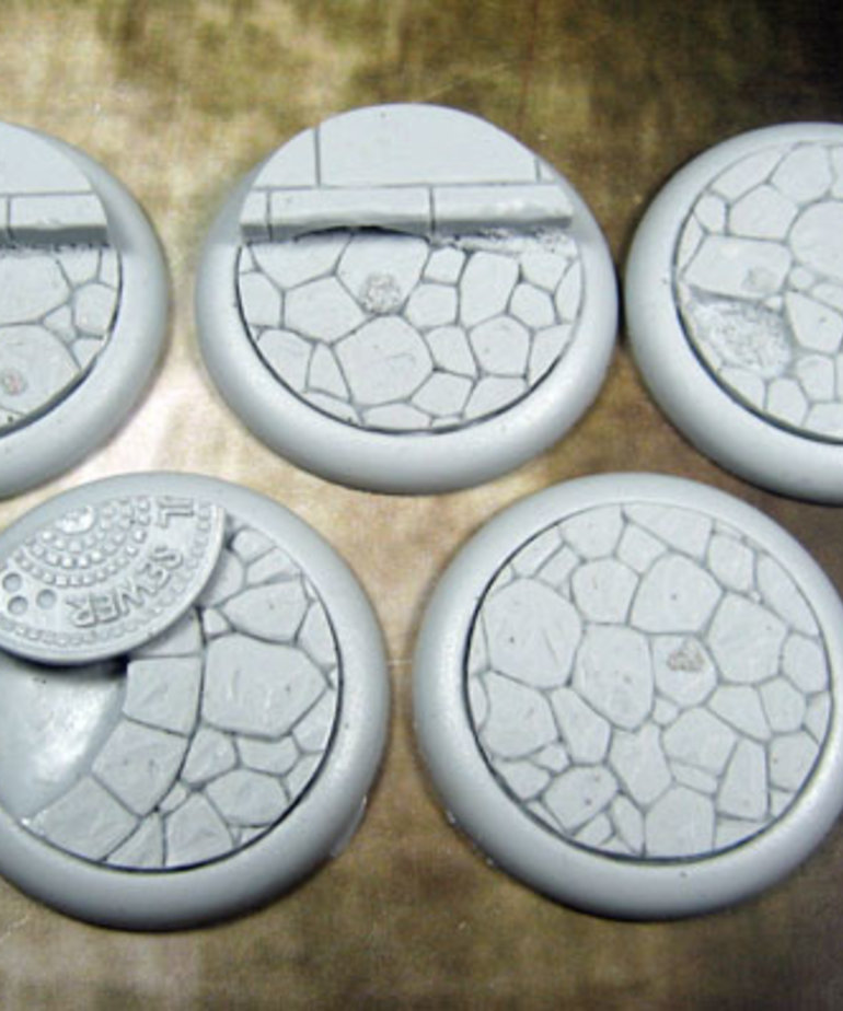 Secret Weapon Miniatures - SWM CLEARANCE Town Square 40mm Bases (5) Secret Weapon Bases