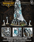 Privateer Press - PIP Warmachine - Convergence of Cyriss - Transfinite Emergence Projector & Permutation Servitors - Battle Engine & Solos