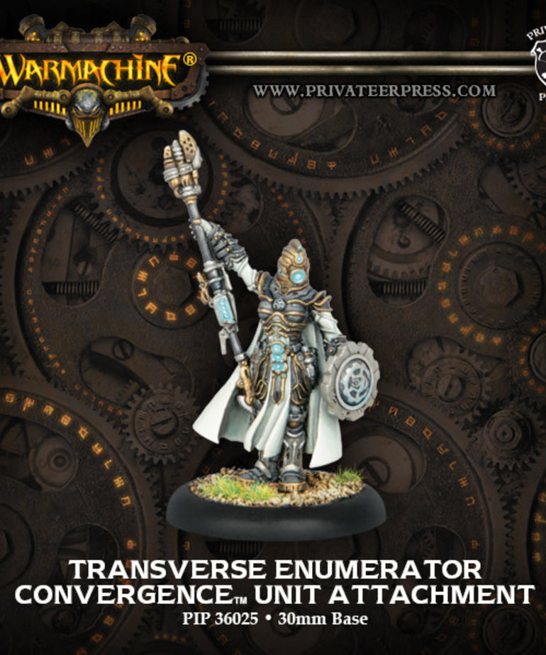 Privateer Press - PIP Warmachine - Convergence of Cyriss - Transverse Enumerator - Unit Attachment