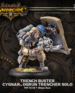 Privateer Press - PIP Warmachine - Cygnar - Trench Buster - Ogrun Trencher - Solo