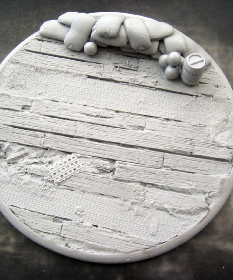 Secret Weapon Miniatures - SWM CLEARANCE Trench Works 120mm Base (1) Secret Weapon Bases