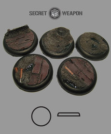 Secret Weapon Miniatures - SWM Trench Works 40mm Bases (5) BLACK FRIDAY NOW