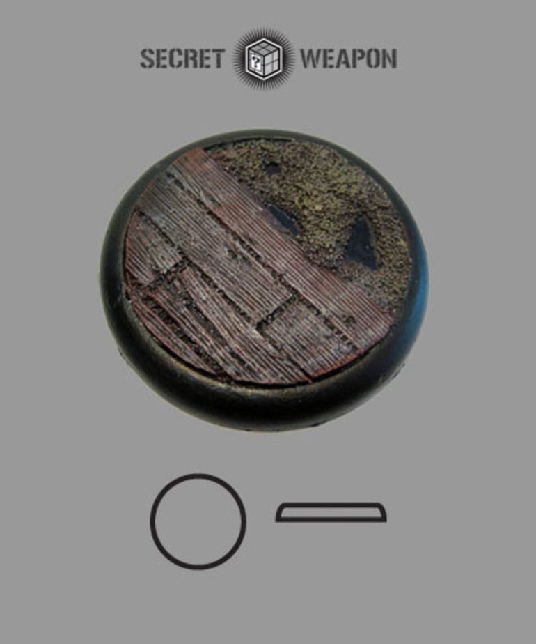 Secret Weapon Miniatures - SWM Trench Works 50mm Base 01 Secret Weapon Bases BLACK FRIDAY NOW