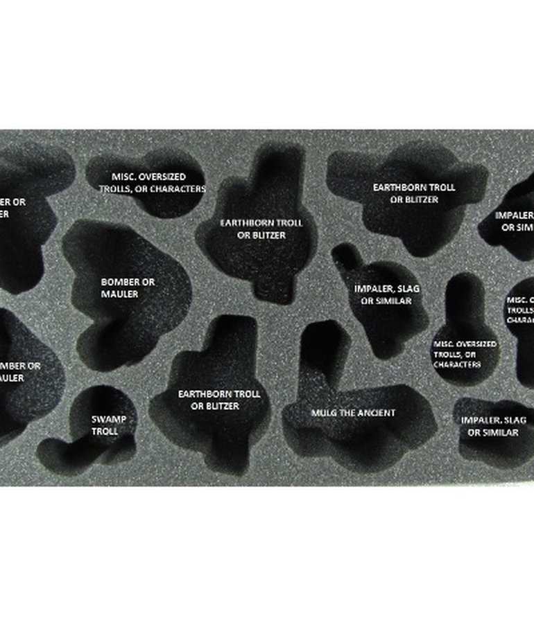 Battle Foam - BAF CLEARANCE Trollbloods Warbeast Foam Tray 3.5 (International orders with this item may be assessed additional shipping fees at time of shipment)