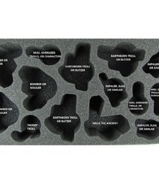 Battle Foam - BAF CLEARANCE Trollbloods Warbeast Foam Tray 4  (International orders with this item may be assessed additional shipping fees at time of shipment)