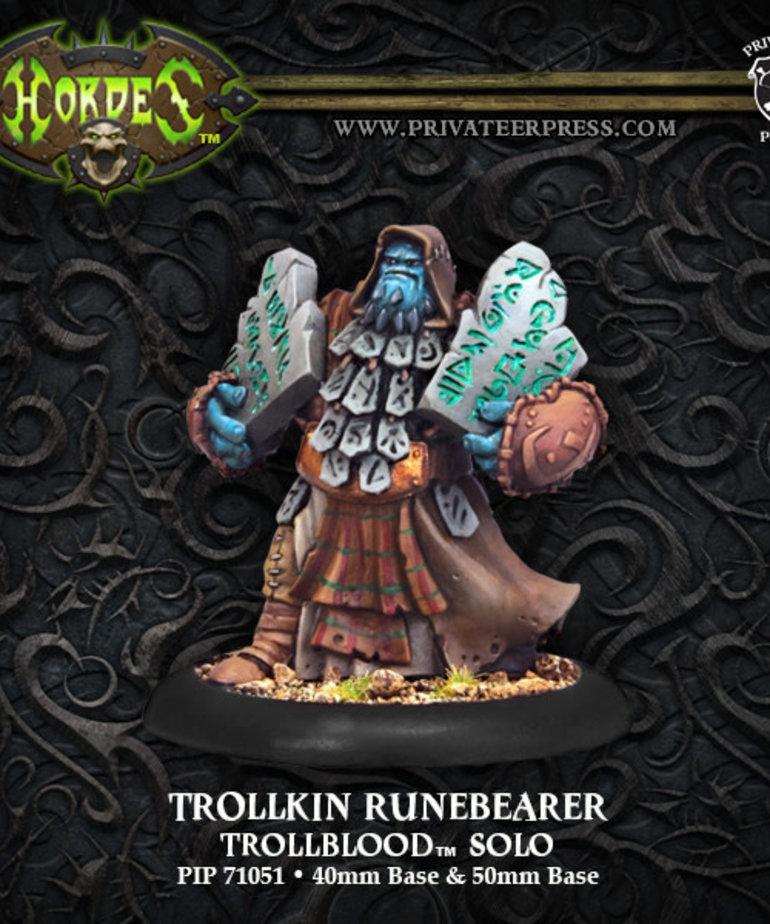 Privateer Press - PIP Hordes - Trollbloods - Trollkin Runebearer - Solo
