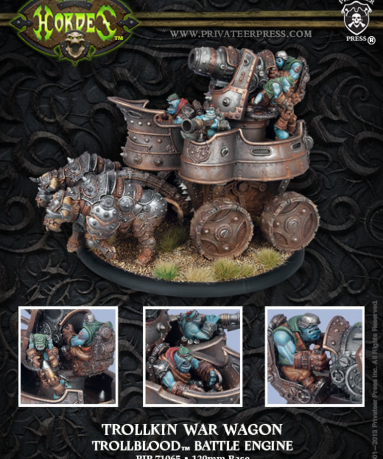 Privateer Press - PIP Hordes - Trollbloods - Trollkin War Wagon - Battle Engine