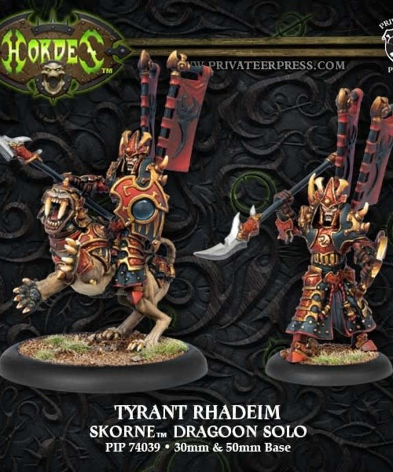 Privateer Press - PIP Hordes - Skorne - Tyrant Rhadeim - Dragoon Solo